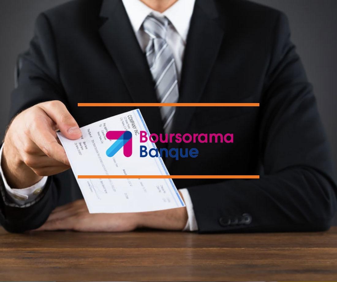 chèque de banque boursorama