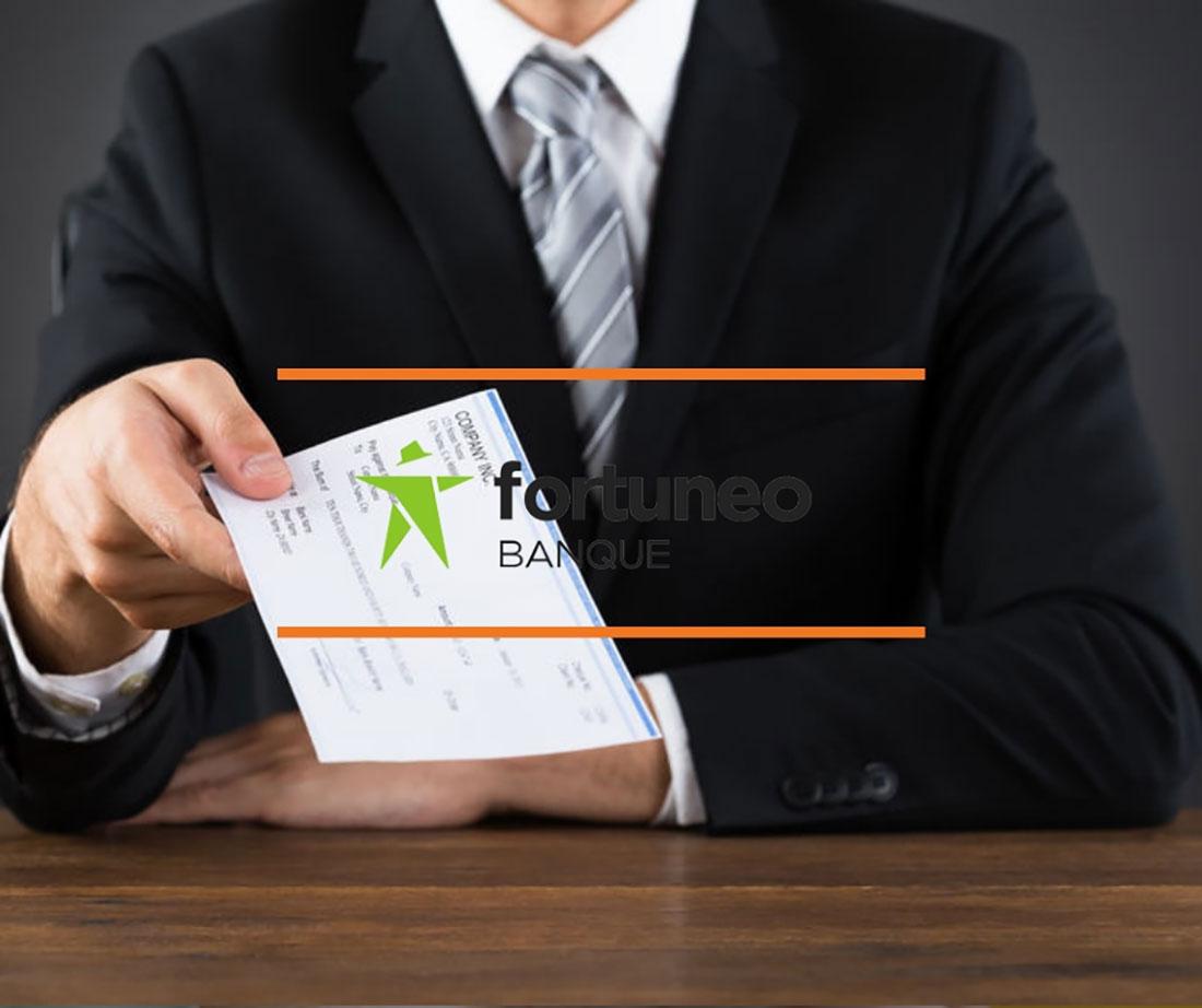 chèque de banque fortuneo