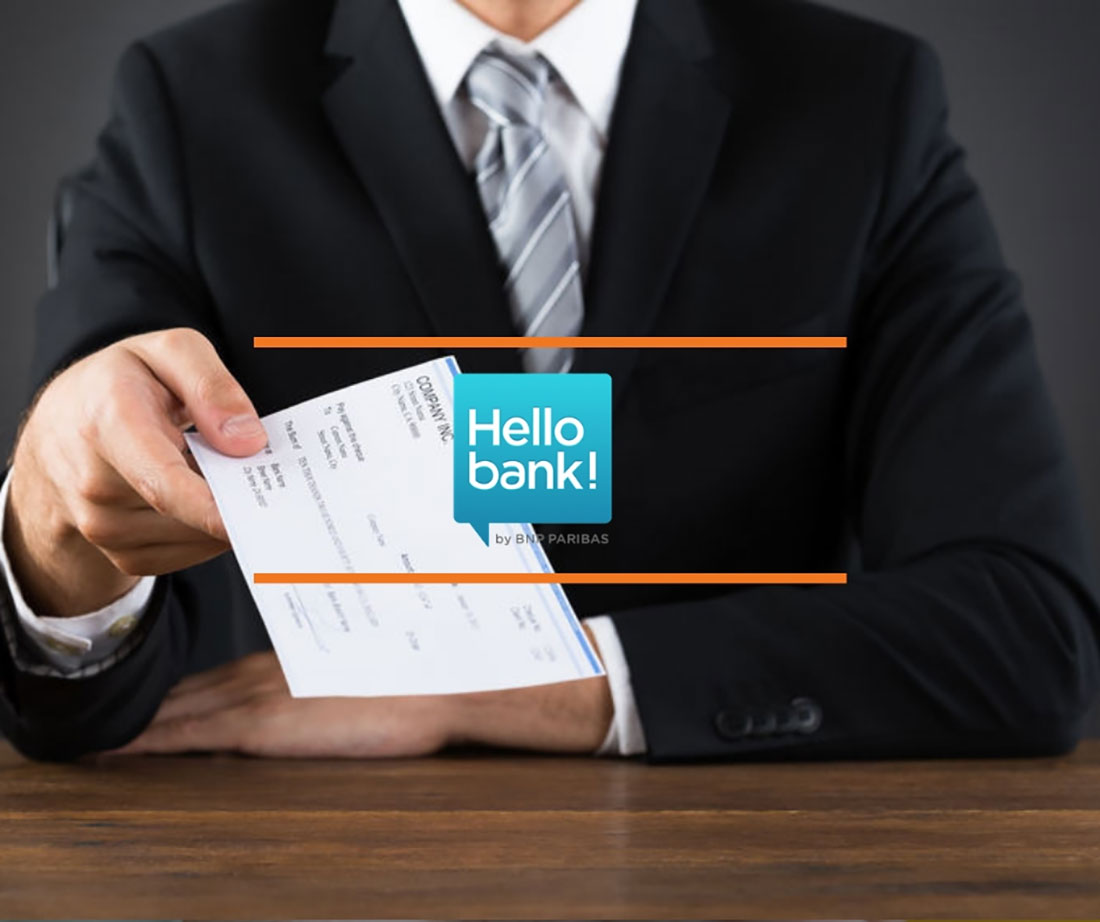 chèque de banque hellobank