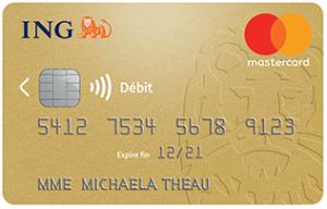 carte gold mastercard ing