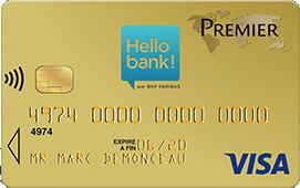 carte visa premier hello bank gratuite